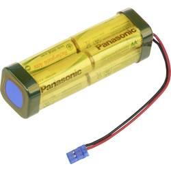 Akumulatorski paket Panasonic dvojna kocka F2x2x2 Graupner 9.6 V 1900 mAh, 8 Mignon (AA), kabel, vtič