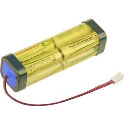 Akumulatorski paket Panasonic dvojna kocka F2x2x2 Futaba 9.6 V 1900 mAh, 8 Mignon (AA), kabel, vtič