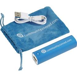 Powerbank VOLTCRAFT Conrad community Li-Ion 2600 mAh Cyan