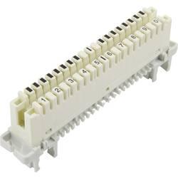 LSA Plus 2 konektorski modul 10 dvožilni 93014c1019 bele barve, vsebina: 1 kos