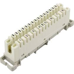 LSA Plus 2 konektorski modul 8 dvožilni 93014c1205 bele barve, vsebina: 1 kos