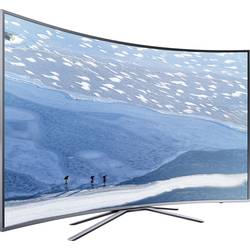 LED-TV 123 cm 49 col Samsung UE49KU6509 EEK A DVB-T2, DVB-C, DVB-S, UHD, Curved, Smart TV, WLAN, CI+ srebrn