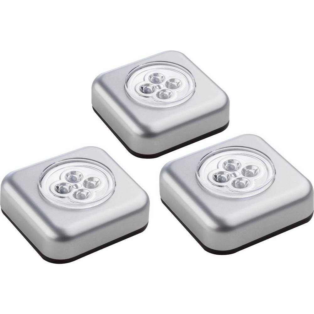 Majhna prenosna LED svetilka Müller 400136 srebrna 3 kosi