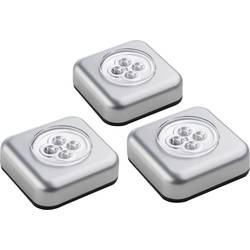 Prijenosna mala LED svjetiljka 400136 Müller Licht srebrna komplet od 3 komada
