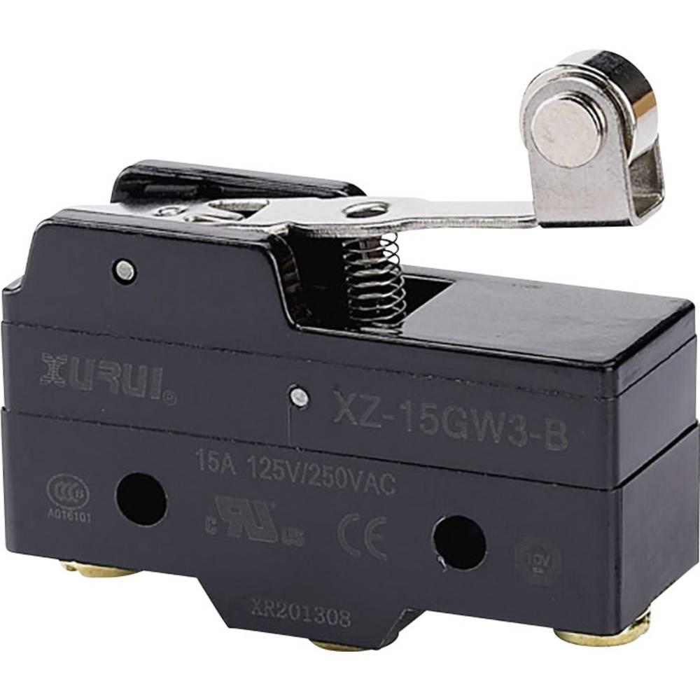 Mikro stikalo 250 V/AC 15 A 1 x vklop/(vklop) XZ-15GW3-B tipkalno 1 kos