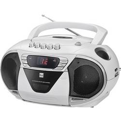 FM CD-radio Dual P 65 FM, AUX, CD, Kassett Vit