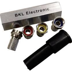 F-vtič, komplet z gumijastim tulcem, vtični konektor, premer kabla: 6.80 mm