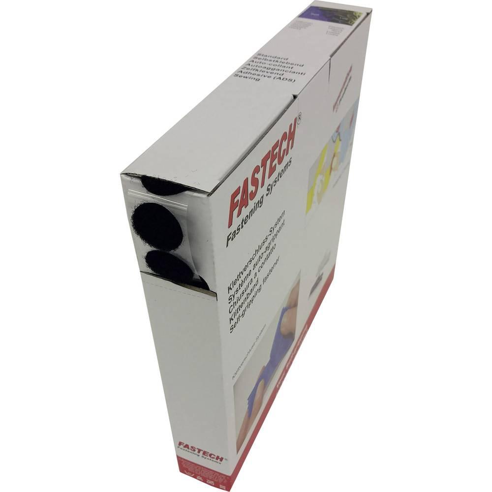 Krugovi, čičak za lijepljenje B25-C02999925 Fastech flis (D X Š) 25 m x 20 mm crna 25 m