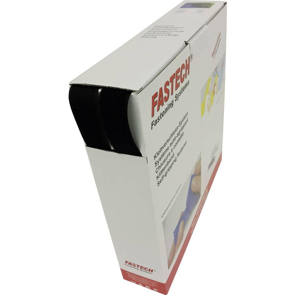 Čičak traka za šivanje B25-STD-LL-999925 Fastech flis (D X Š) 25 m x 25 mm crna 25 m