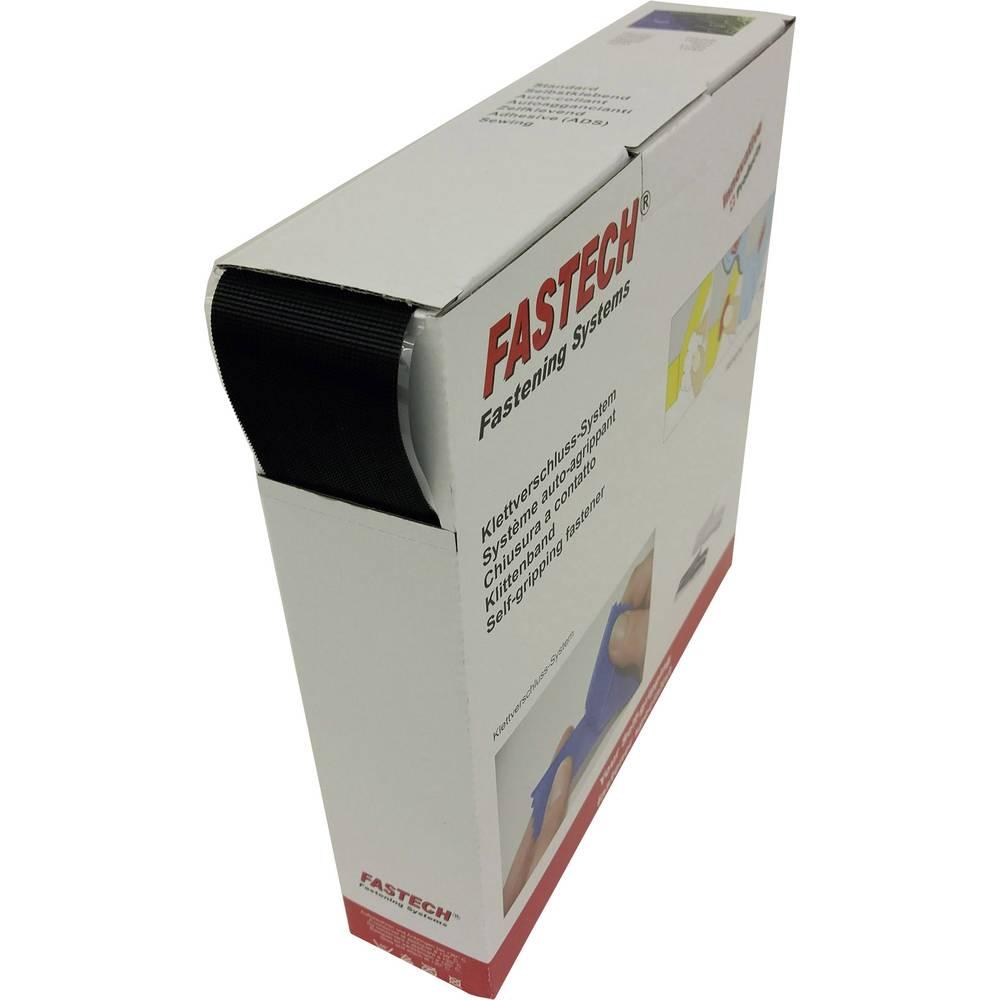 Sprijemalni trak za lepljenje z mikro kljukicami (D x Š) 25 m x 50 mm črne barve Fastech 25 m