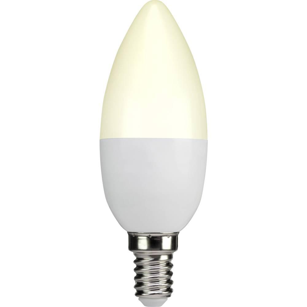LED žarulja (jednobojna) sygonix 230 V E14 3.3 W = 25 W topla bijela KEU: A+ oblik svijeće (promjer x D) 38 mm x 105 mm 1 kom.