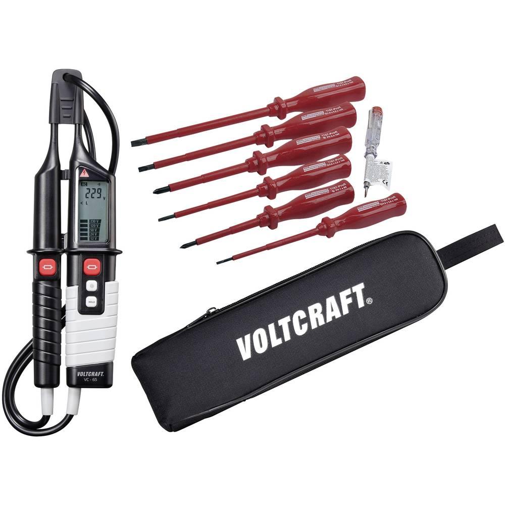 VOLTCRAFT VC 65 + komplet VDE odvijača + VOLTCRAFT torbica s dvopolnim ispitivačem napona 12 - 1000 V AC/12 - 1200 V DC LED/LCD/