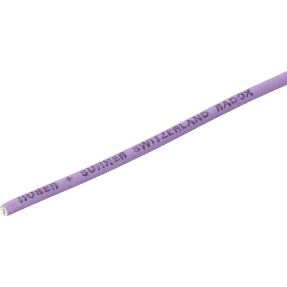 Finožični vodnik Radox® 155 1 x 1 mm vijolične barve Huber & Suhner 12420329 meterski