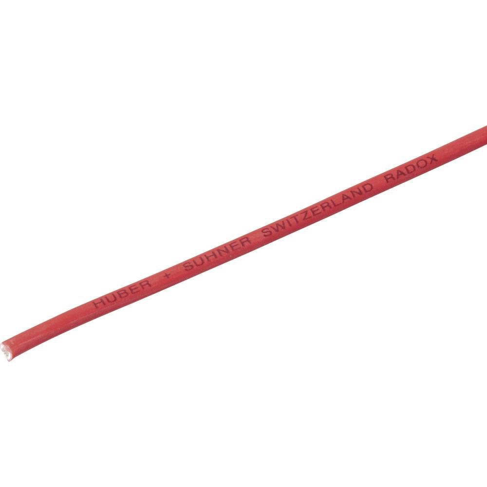 Finožični vodnik Radox® 155 1 x 1 mm rdeče barve Huber & Suhner 12420036 meterski