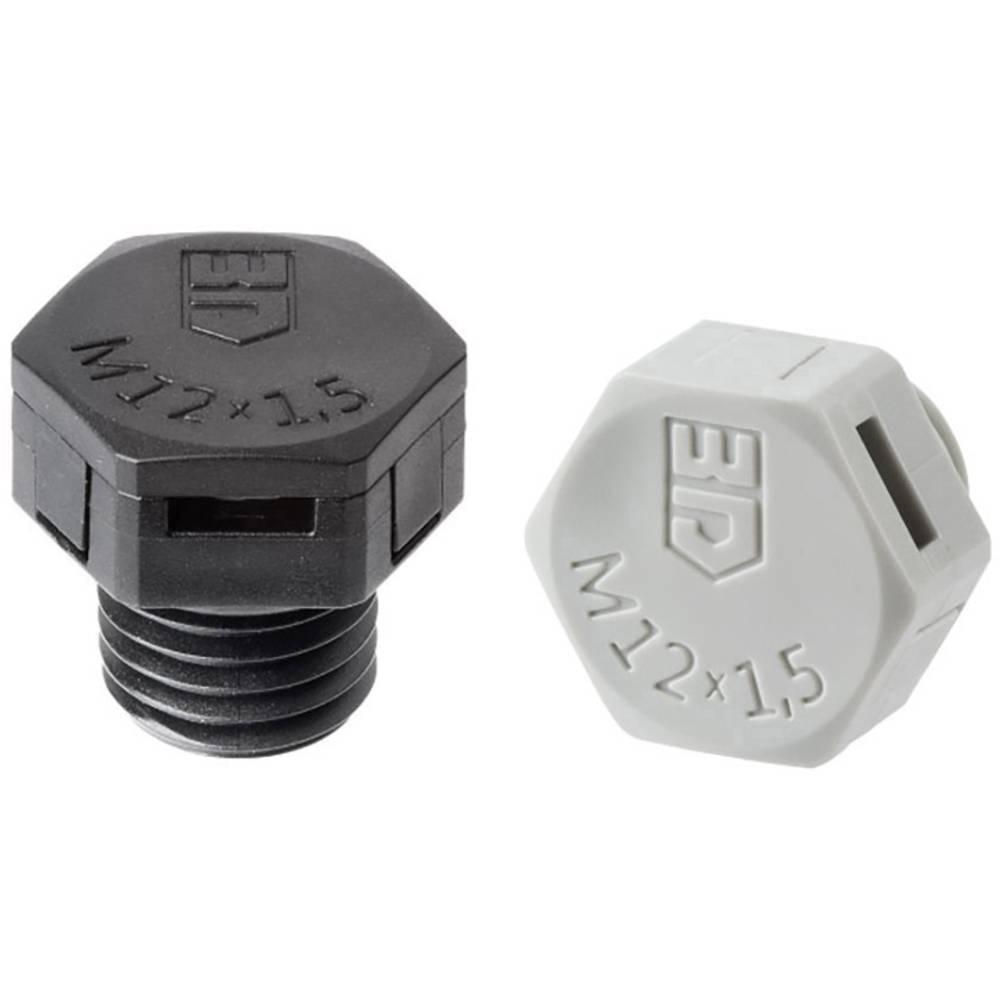 Element za izednačevanje pritiska M12, poliamid crne boje (RAL 9005) Jacob JDAE12PA/SW 1 kom