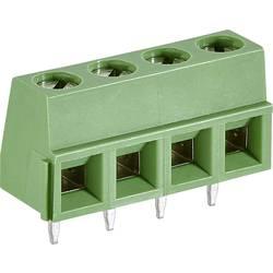 Skrueklemmeblok TE Connectivity 282836-4 1.31 mm² Poltal 4 Grøn 1 stk