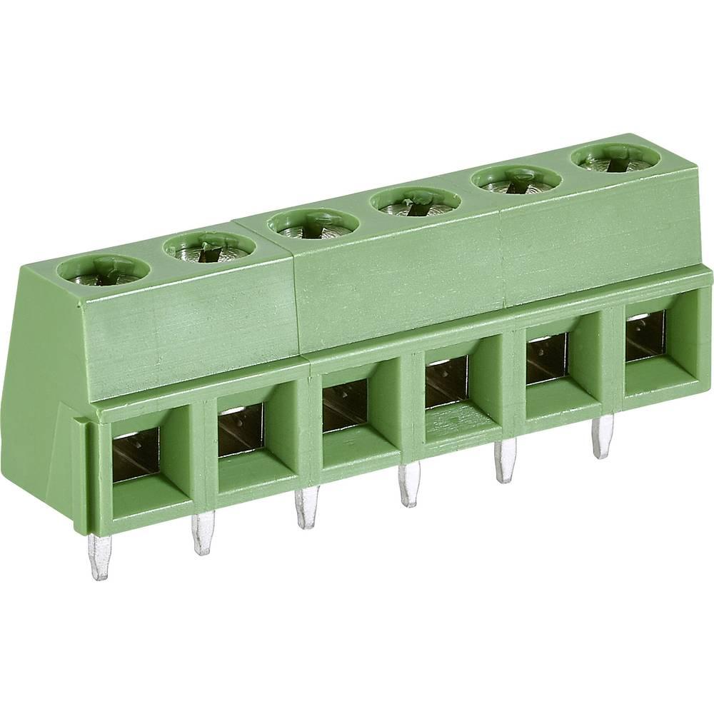 Skrueklemmeblok TE Connectivity 282836-6 1.31 mm² Poltal 6 Grøn 1 stk
