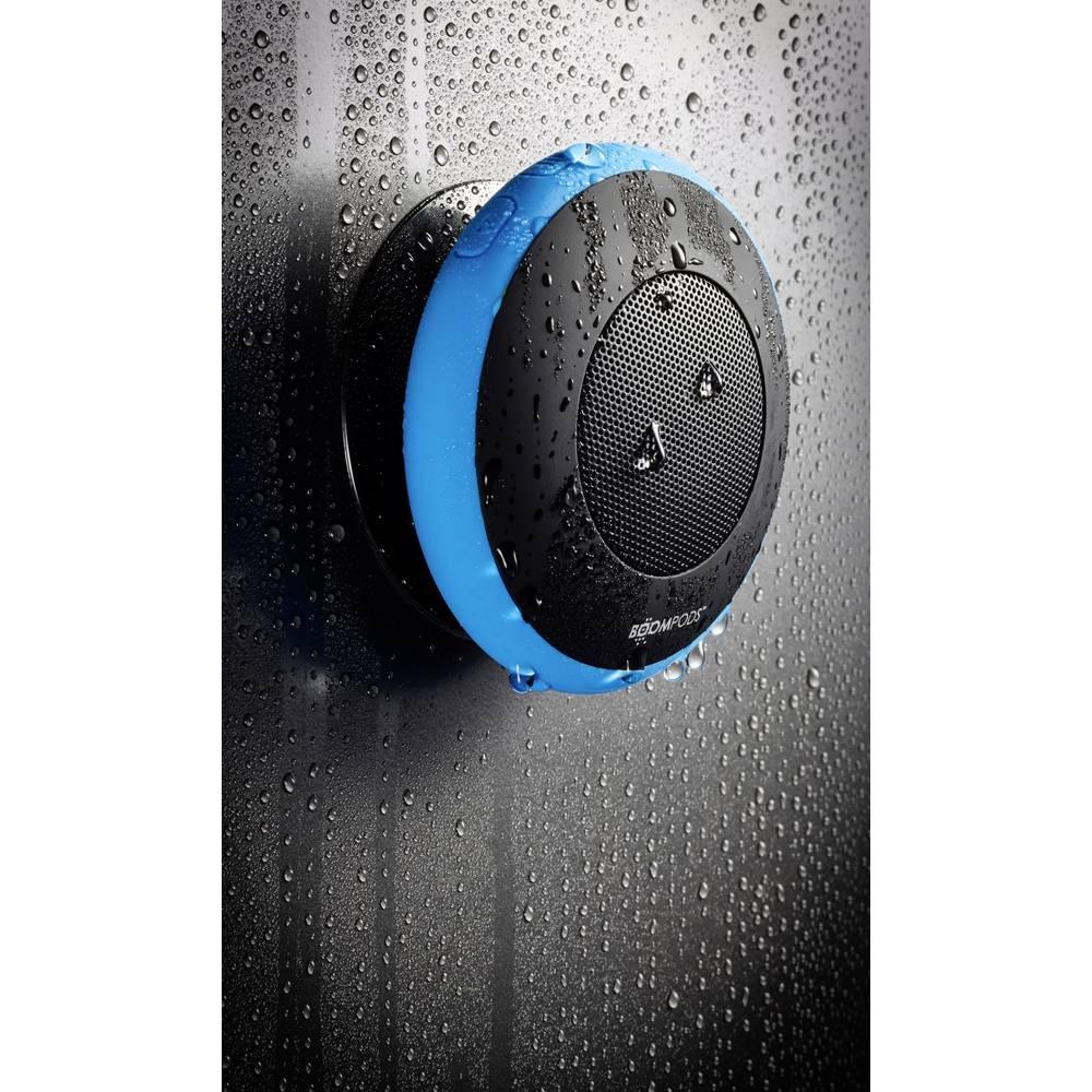Bluetooth® zvočnik Boompods Aquapod s funkcijo prostoročno govorjenje, odporen na špricano vodo, udarce modra