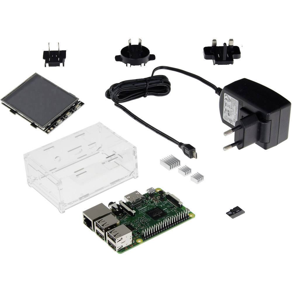 Raspberry Pi® 3 model B set za ekran 1 GB