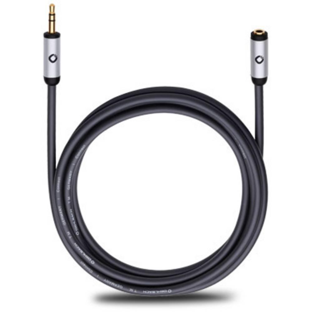 Podaljševalni kabel,avdio jack vtič [1x jack vtič 3.5 mm - 1x jack vtičnica 3.5 mm] 5 m, črna pozlačeni kontakti Oehlbach iConne