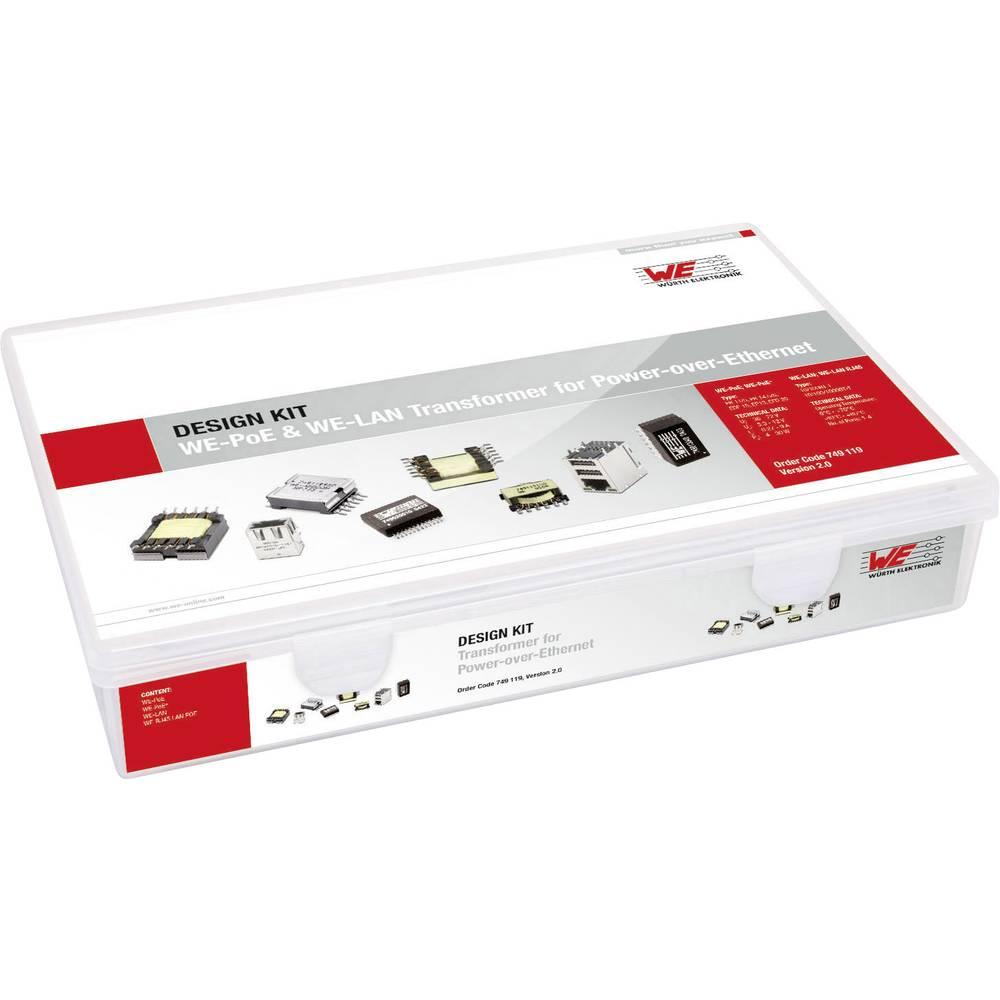 Design Kit, transformatorji Würth Elektronik WE-PoE 749119 105 delov