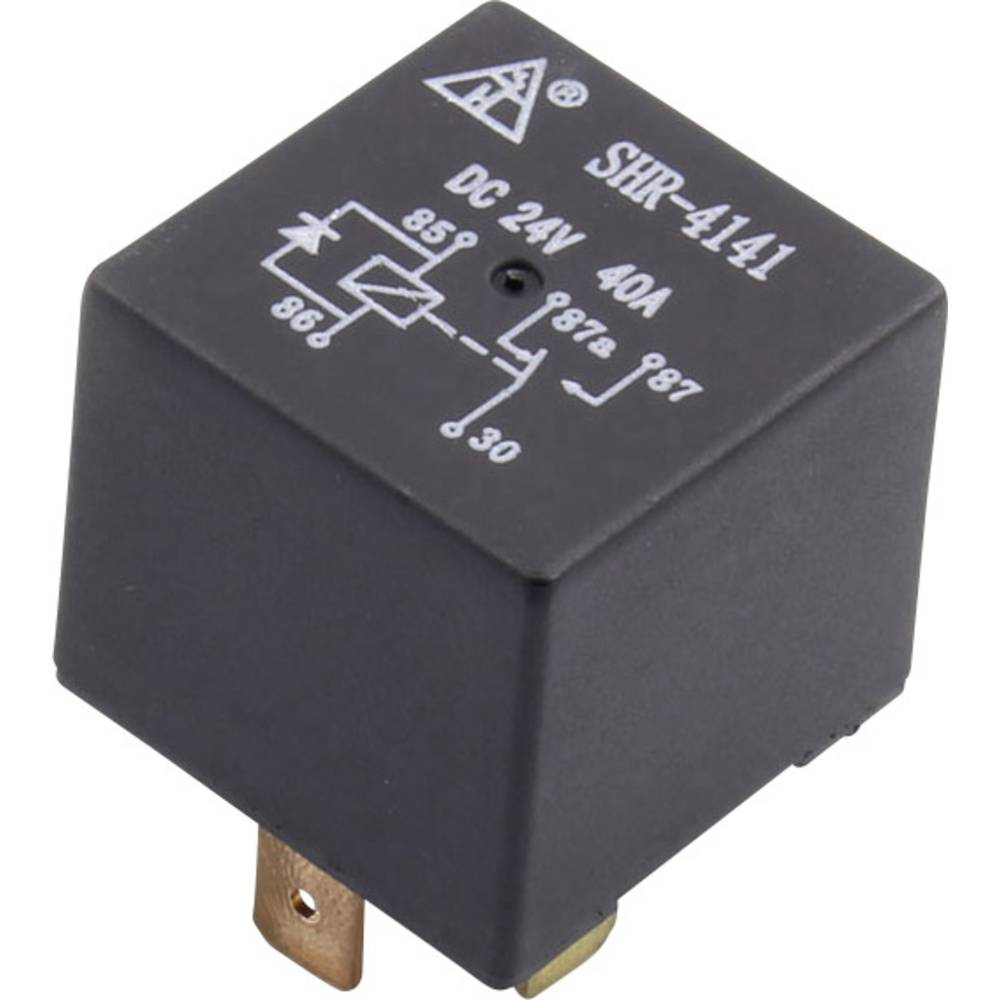 Kfz-Relais (value.1292934) 12 V/DC 40 A 1 Wechsler (value.1345271) SHR-4141A SHR-12VDC-F-C 5pin