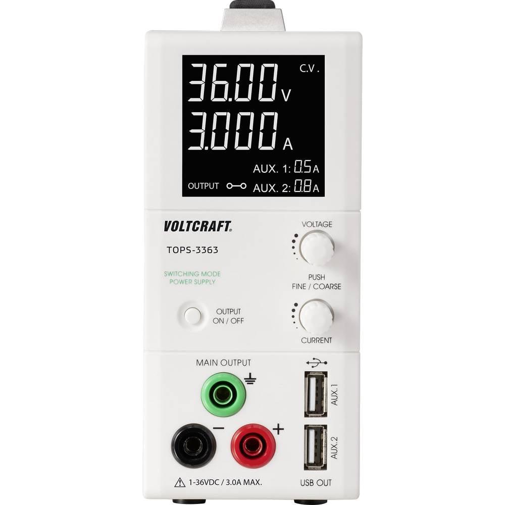 Laboratorijski uređaj za napajanje podesiv VOLTCRAFT TOPS-3363 1 - 36 V/DC 0.25 - 3 A 100 W OVP, tanki dizajn broj izlaza 3 x