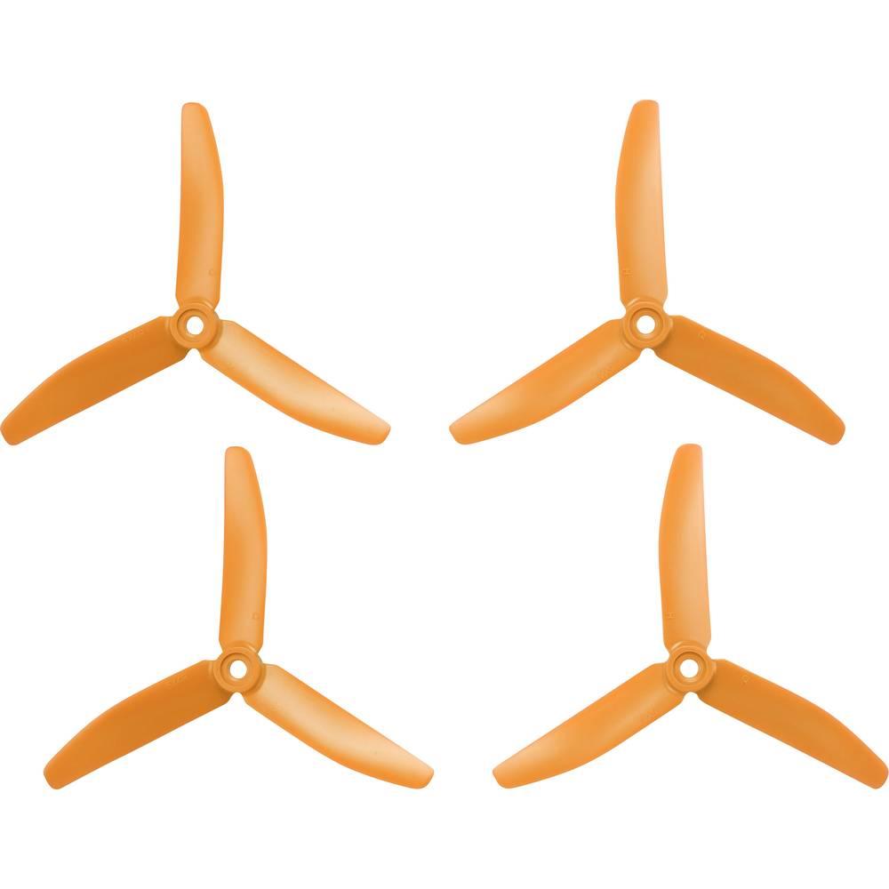 HQ Prop 3 rezila komplet propelerjev za dirkalni kopter normalen 5 x 4 palec (12.7 x 10.2 cm) TP5X4X3O&TP5X4X3RO
