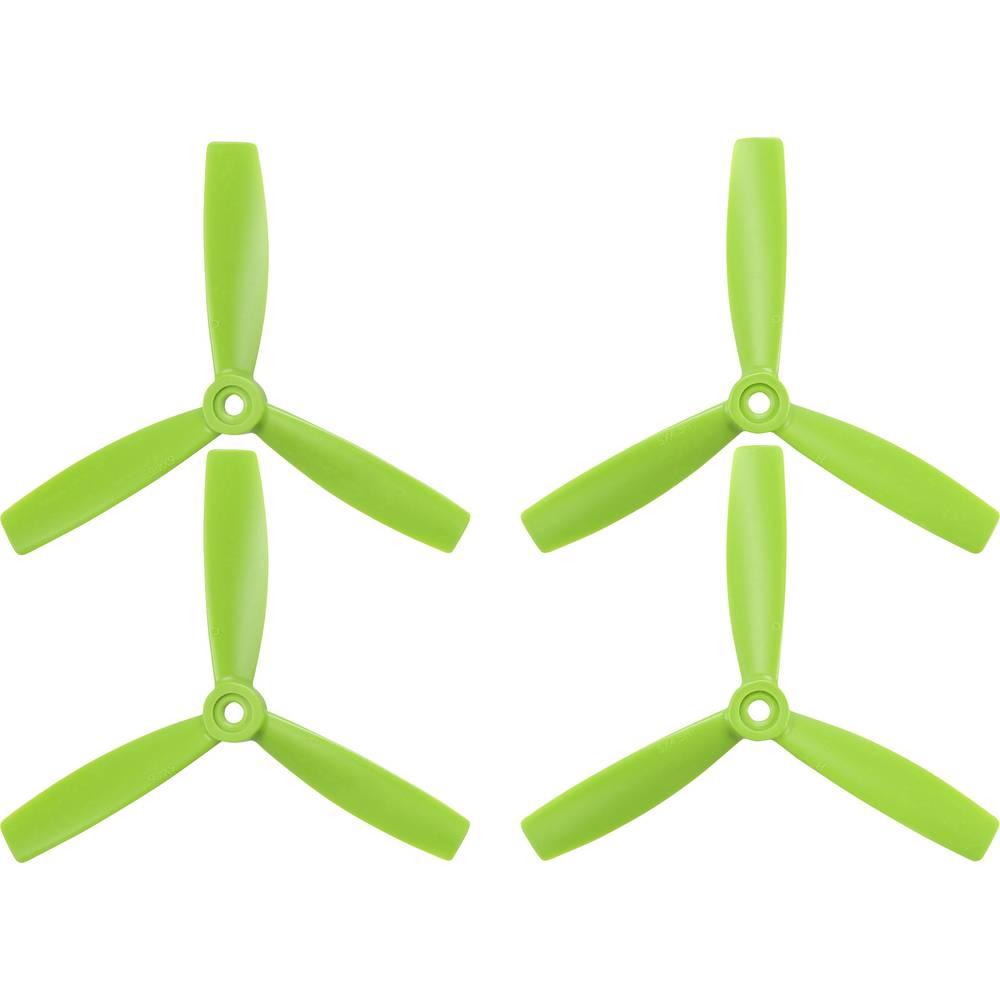 HQ Prop 3 rezila Komplet propelerjev za dirkalni kopter Radiusni 5 x 4  (12.7 x 10.2 cm) TP5X4.5X3G&TP5X4.5X3RG