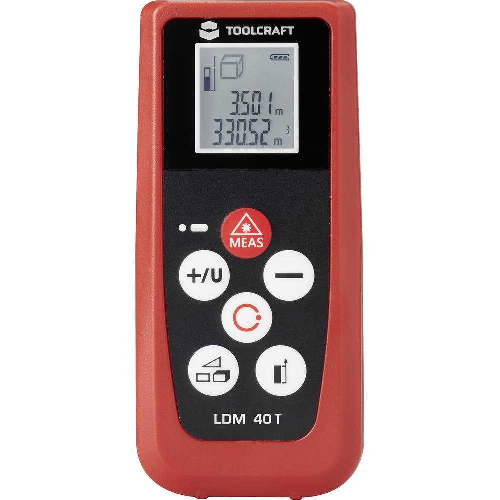 TOOLCRAFT LDM 40T laserski merilnik razdalje, merilno območje maks. 40 m kalibracija narejena po: delovnih standardih