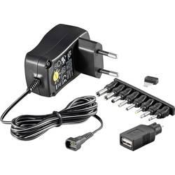 Vtični napajalnik, nastavljiv Goobay 54793 3 V/DC, 4.5 V/DC, 5 V/DC, 6 V/DC, 7.5 V/DC, 9 V/DC, 12 V/DC 300 mA 3.6 W