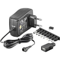 Vtični napajalnik, nastavljiv Goobay 53997 3 V/DC, 4.5 V/DC, 5 V/DC, 6 V/DC, 7.5 V/DC, 9 V/DC, 12 V/DC 1500 mA 18 W