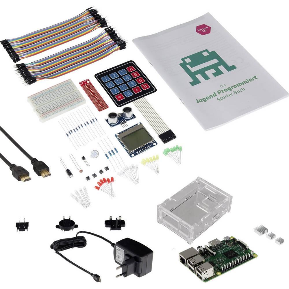 Raspberry Pi® 3 Model B začetni komplet 1 GB vklj. ohišje
