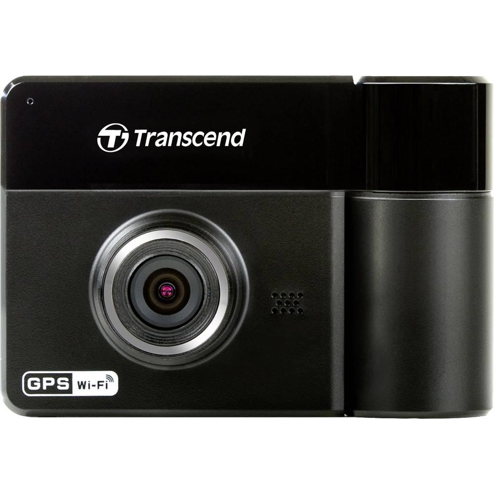 Avtomobilska kamera z GPS Transcend DrivePro 520 vidno polje horizontalno=130 ° 12 V, 24 V Dual-Kamera, WLAN, baterija, mikrofon