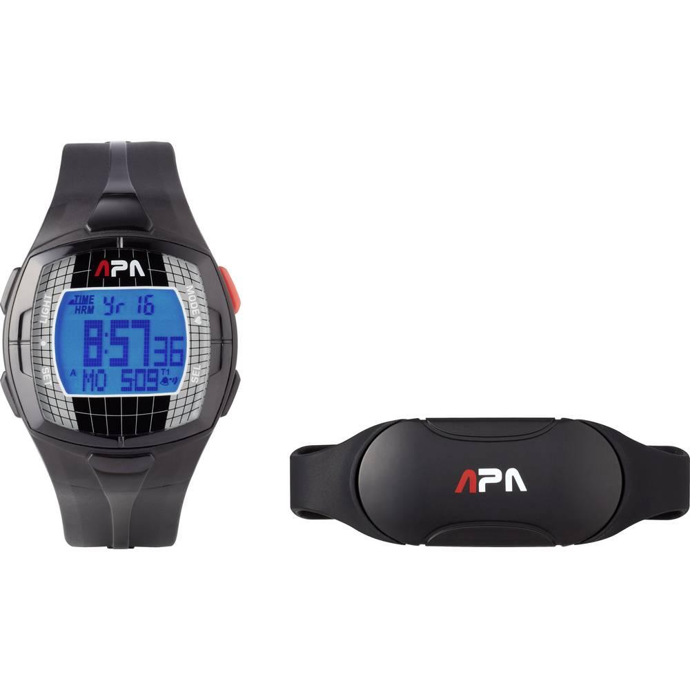 Sat za mjerenje pulsa s remenom za prsa Basetech GB77 kodirani prijenos, crne boje