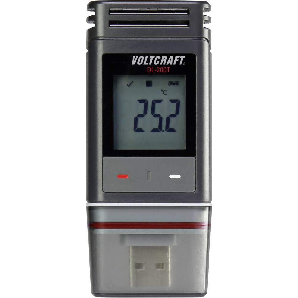 Zapisovalnik podatkov o temperaturi VOLTCRAFT DL-200T merjenje temperature -30 do +60 °C PDF kalibracija narejena po delovnih st