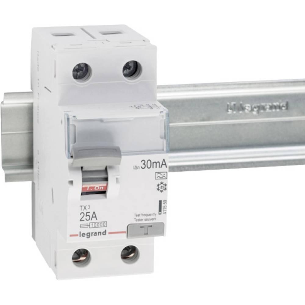 FI-sikkerhedsafbryder 25 A 0.03 A 230 V Legrand 411559