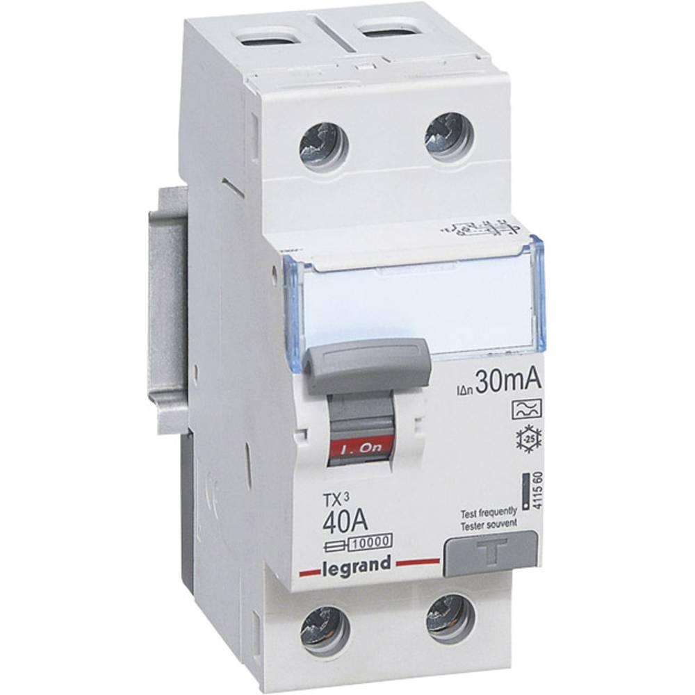 FI-sikkerhedsafbryder 40 A 0.03 A 230 V Legrand 411560