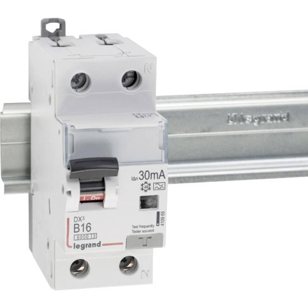 FI-sikkerhedsafbryder/automatsikring 1-polet 16 A 0.03 A 230 V Legrand 410965