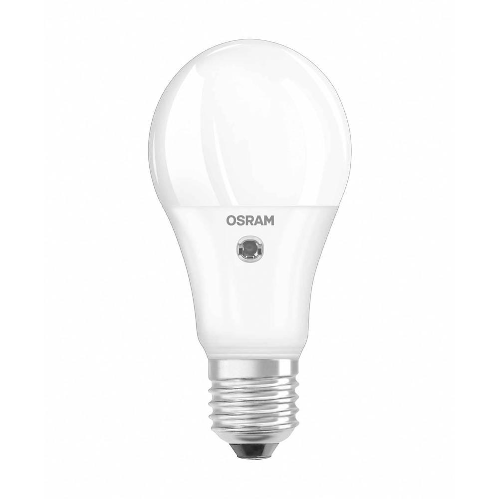 LED Glödlampsform E27 OSRAM inkl. dagsljussensor 9.5 W 806 lm A+ Varmvit 1 st