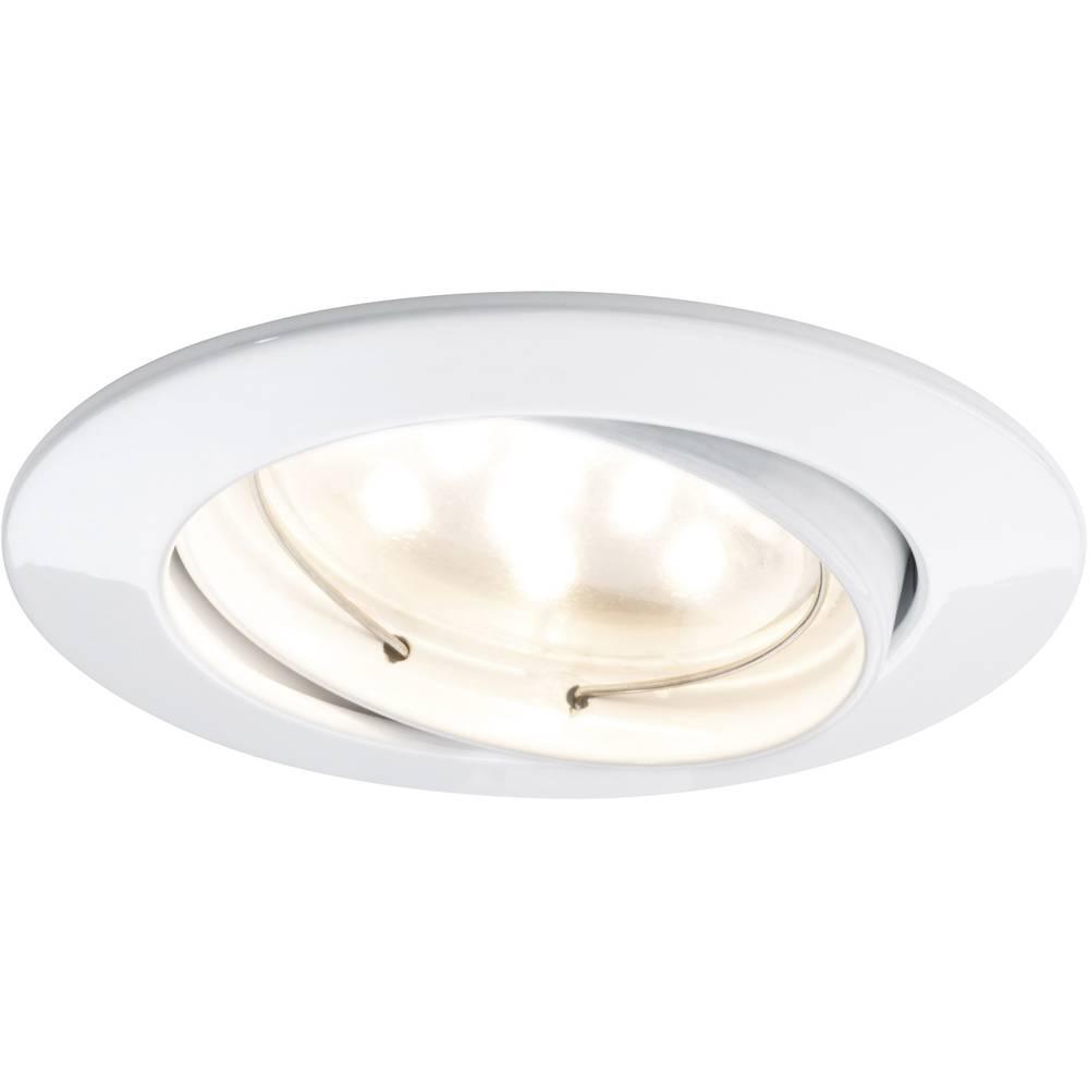 Ugradbena LED svjetiljka Coin 92815 Paulmann 21 W toplo-bijelo svjetlo bijela komplet od 3 komada