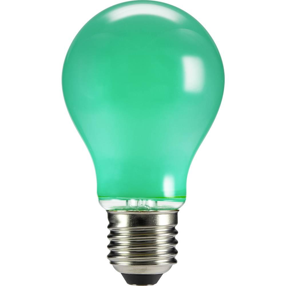 LED žarnica E27 klasična oblika 4 W zelena (premer x D) 60 mm x 105 mm EEK: n.rel. Sygonix filament 1 kos