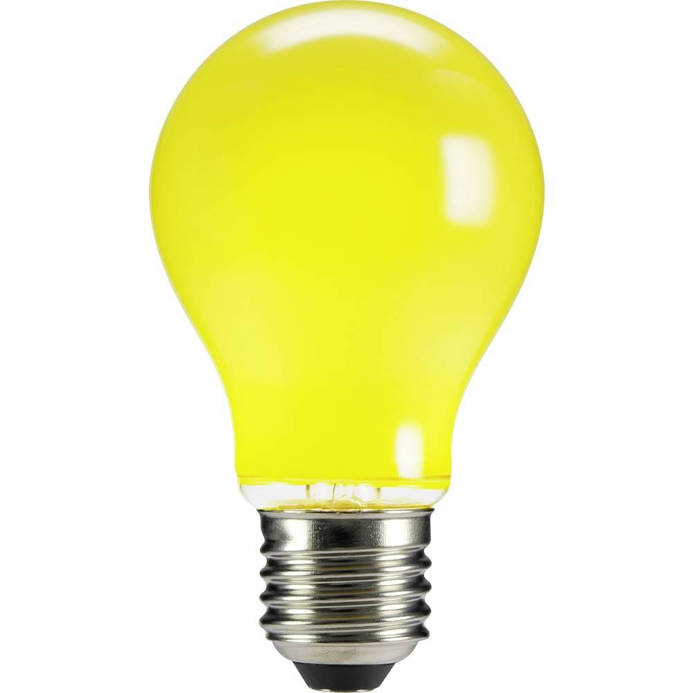LED žarulja (jednobojna) sygonix 230 V E27 4 W žuta KEU: n.rel. klasičan oblik (promjer x D) 60 mm x 105 mm 1 kom.