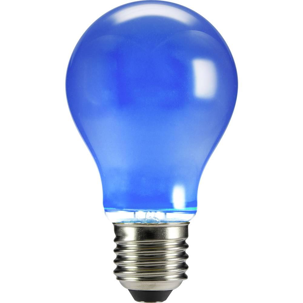 LED žarulja (jednobojna) sygonix 230 V E27 4 W plava KEU: n.rel. klasičan oblik (promjer x D) 60 mm x 105 mm filament 1 kom.