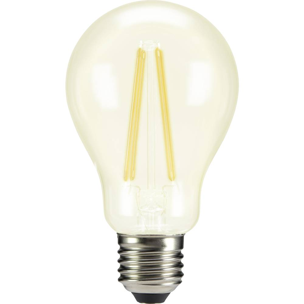 LED žarnica E27 klasična oblika 8 W = 75 W topla bela (premer x D) 67 mm x 118 mm EEK: A++ Sygonix filament 1 kos