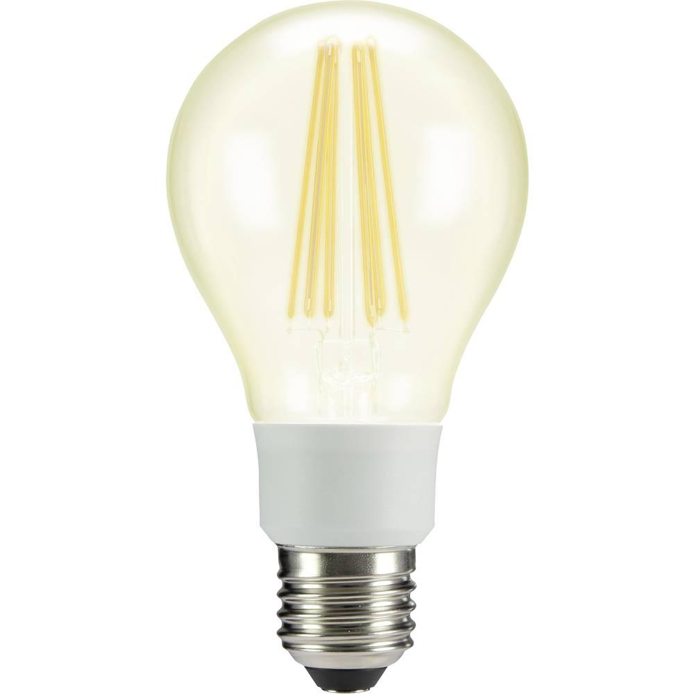 LED žarnica E27 klasična oblika 12 W = 100 W topla bela (premer x D) 67 mm x 130 mm EEK: A++ Sygonix filament 1 kos