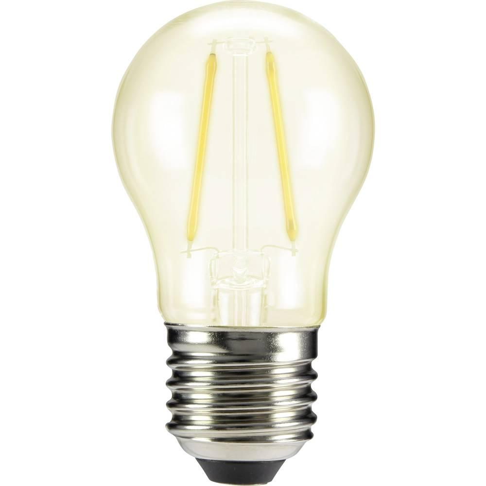 LED žarulja (jednobojna) sygonix 230 V E27 2 W = 25 W topla bijela KEU: A++ oblik kapljice (promjer x D) 45 mm x 84 mm 1 kom.