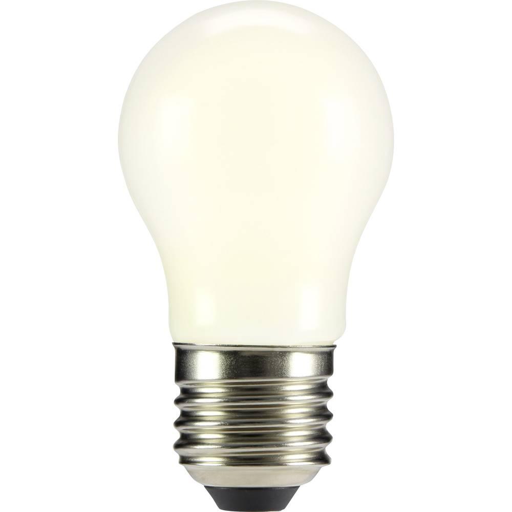 LED žarulja (jednobojna) sygonix 230 V E27 2 W = 20 W topla bijela KEU: A++ oblik kapi (promjer x D) 45 mm x 84 mm filament 1 ko