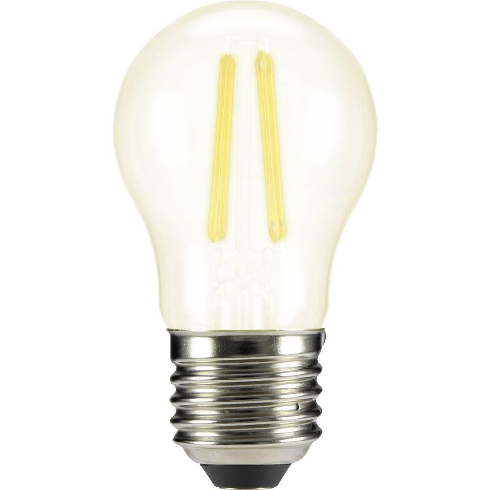 LED žarulja (jednobojna) sygonix 230 V E27 4 W = 40 W topla bijela KEU: A++ oblik kapljice (promjer x D) 45 mm x 84 mm 1 kom.