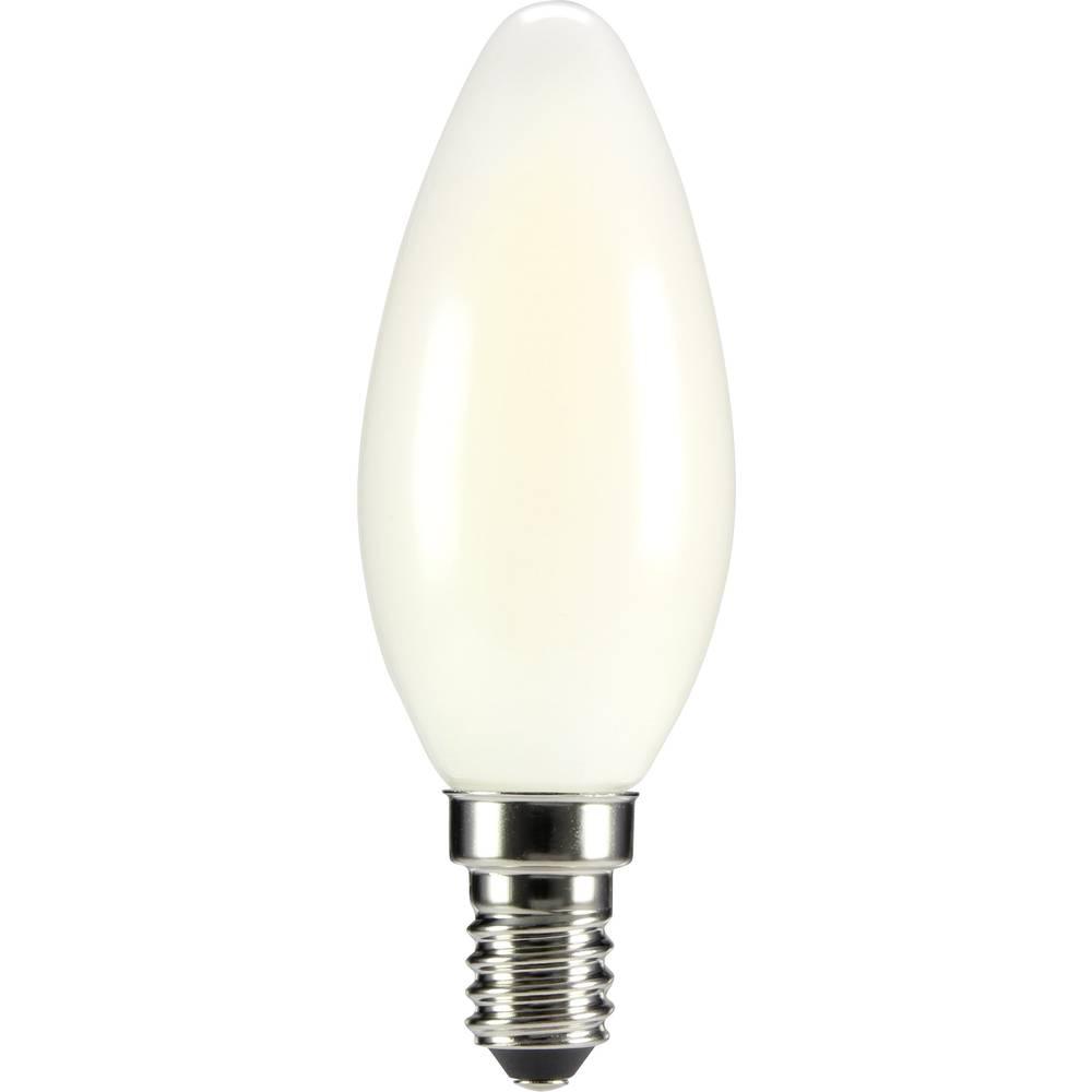 LED žarulja (jednobojna) sygonix 230 V E14 4 W = 35 W topla bijela KEU: A++ oblik svijeće (promjer x D) 35 mm x 99 mm filament 1
